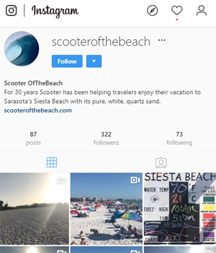 Scooter of the Beach Instagram Page